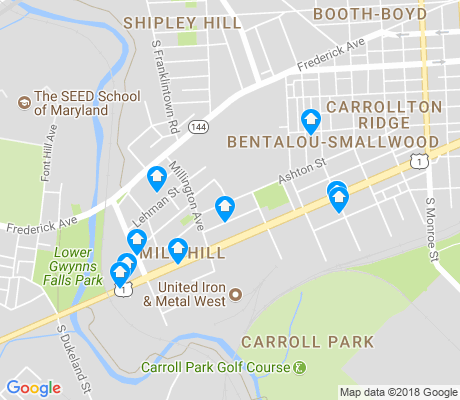 map of Mill Hill apartments for rent