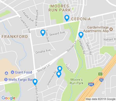 map of Moores Run Park apartments for rent