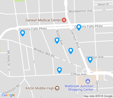 map of Mount Holly apartments for rent