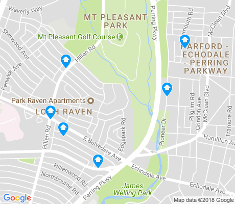 map of Mount Pleasant Park apartments for rent
