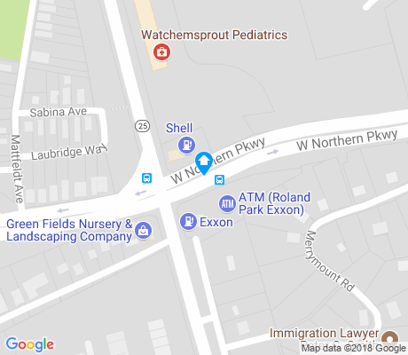map of New North Roland Park - Poplar Hill apartments for rent
