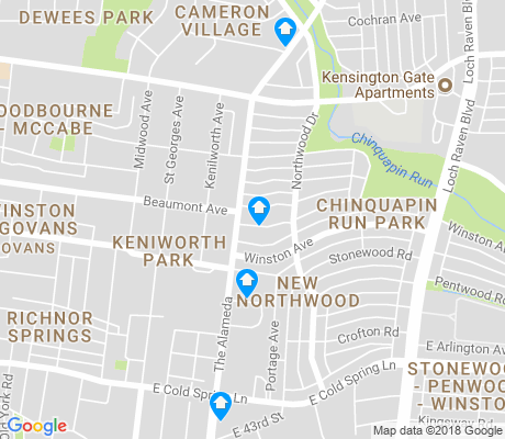 map of New Northwood apartments for rent