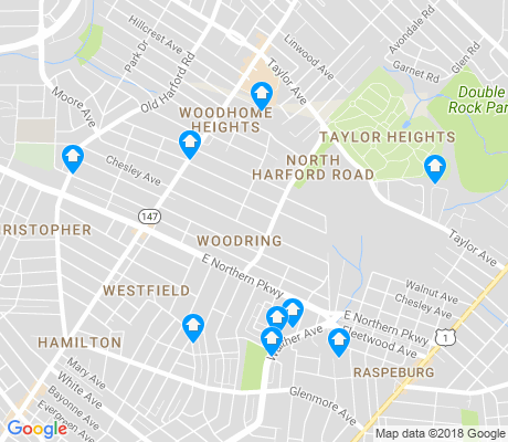 map of North Harford Road apartments for rent
