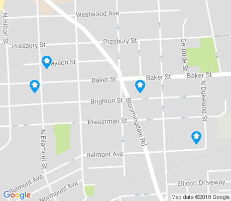 map of Northwest Community apartments for rent