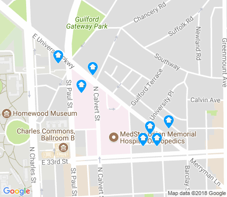 map of Oakenshawe apartments for rent