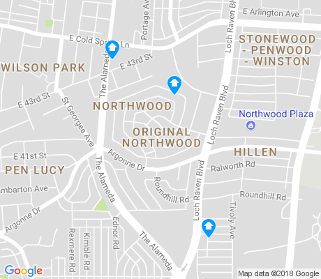 map of Original Northwood apartments for rent