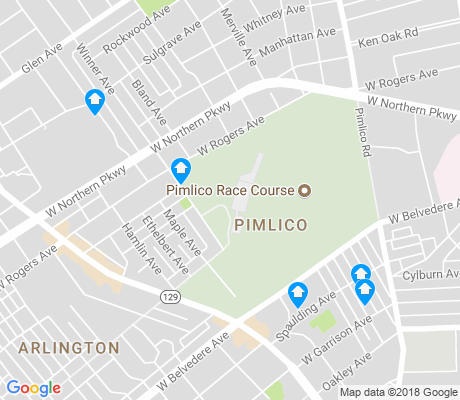 map of Pimlico apartments for rent