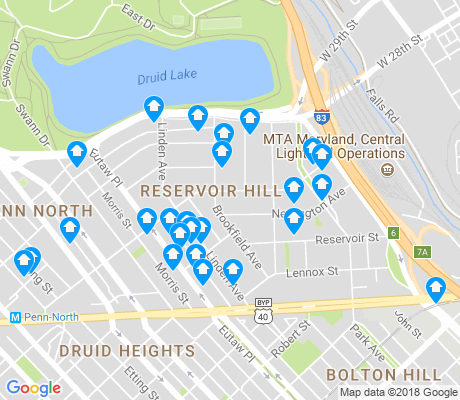 map of Reservoir Hill apartments for rent