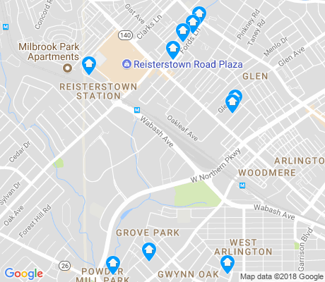 map of Risterstown Station apartments for rent