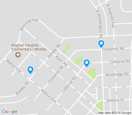 map of Rognel Heights apartments for rent