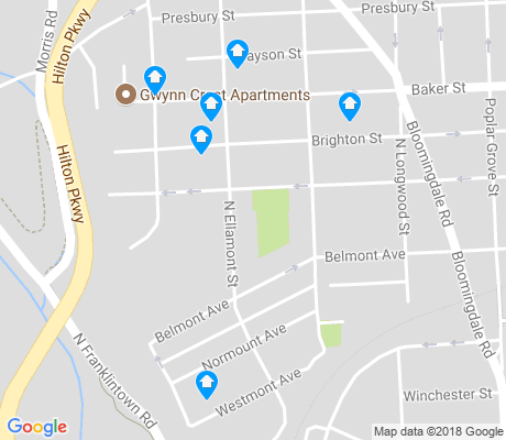 map of Rosemont apartments for rent