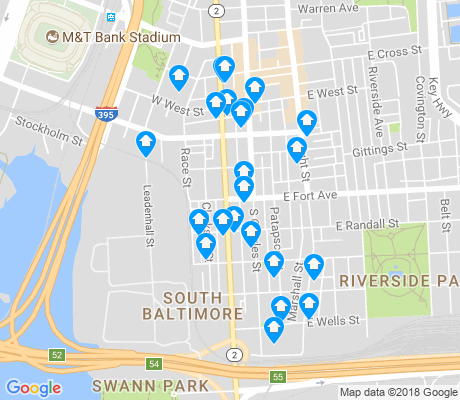 map of SBIC - West Federal Hill apartments for rent