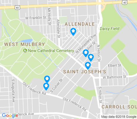 map of Saint Joseph's apartments for rent