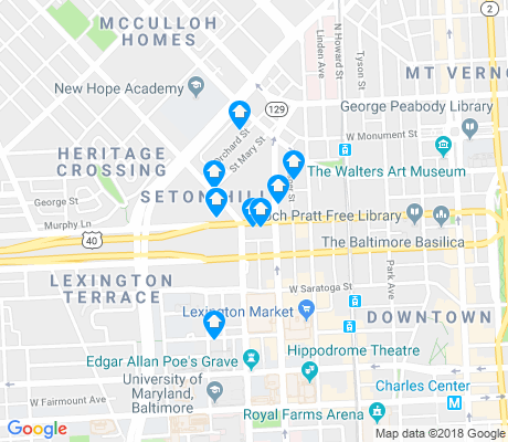 map of Seton Hill apartments for rent