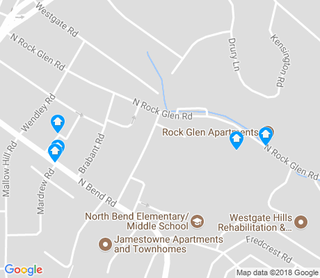 map of Ten Hills apartments for rent