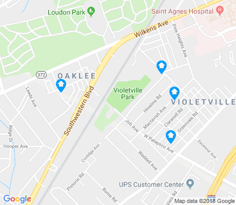 map of Violetville apartments for rent