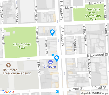 map of Washington Hill apartments for rent