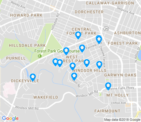 map of West Forest Park apartments for rent