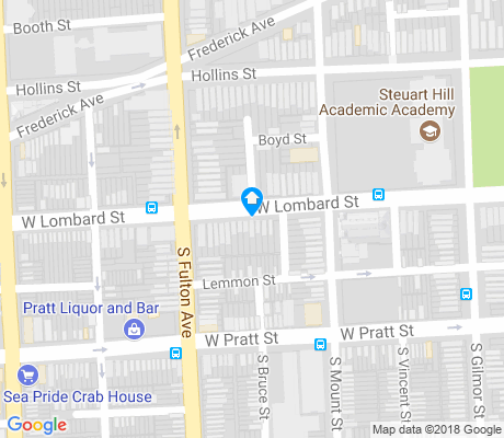 map of West Pratt apartments for rent