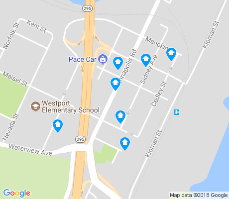 map of Westport apartments for rent