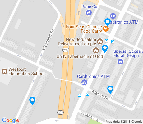 map of Westport Homes apartments for rent