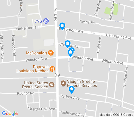 map of Winston - Govans apartments for rent