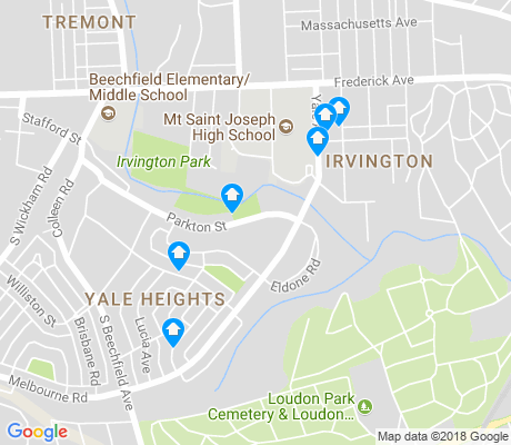 map of Yale Heights apartments for rent
