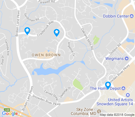 map of Owen Brown apartments for rent