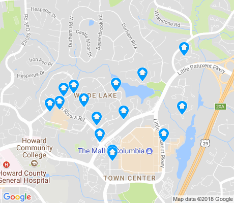 map of Wilde Lake apartments for rent