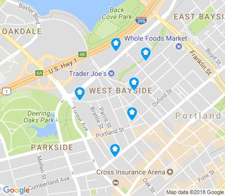 map of West Bayside apartments for rent