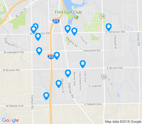 map of 48529 apartments for rent