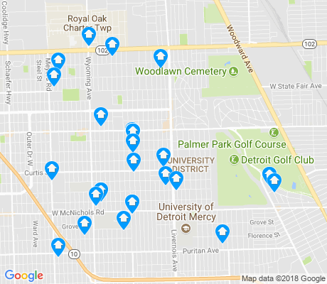 map of 48221 apartments for rent