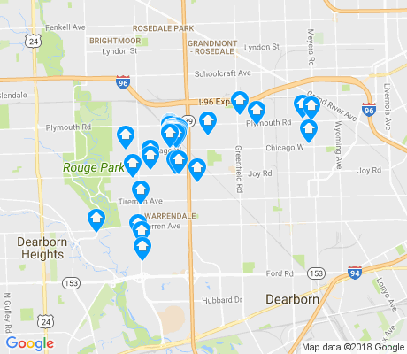 map of 48228 apartments for rent