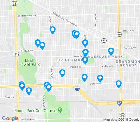 map of Brightmoor apartments for rent