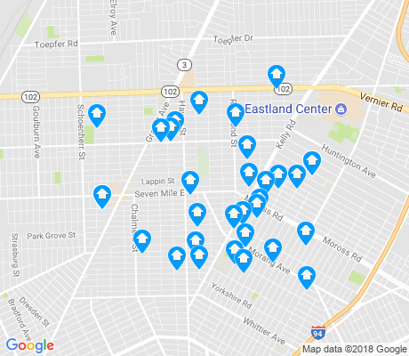 map of Burbank apartments for rent