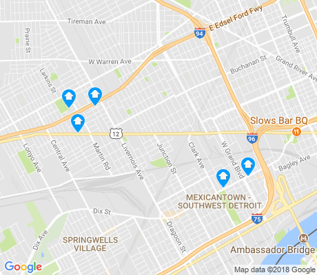 map of Chadsey-Condominiums apartments for rent