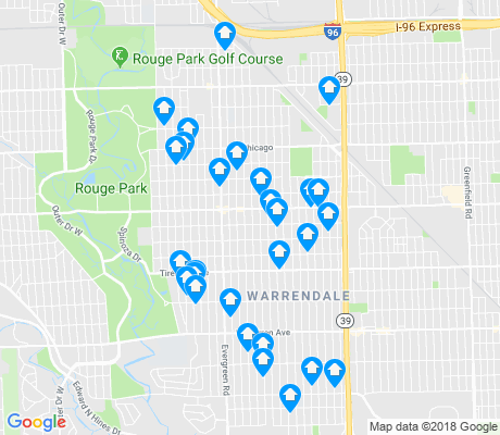 map of Cody-Rouge apartments for rent