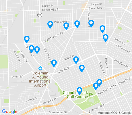 map of Conner apartments for rent