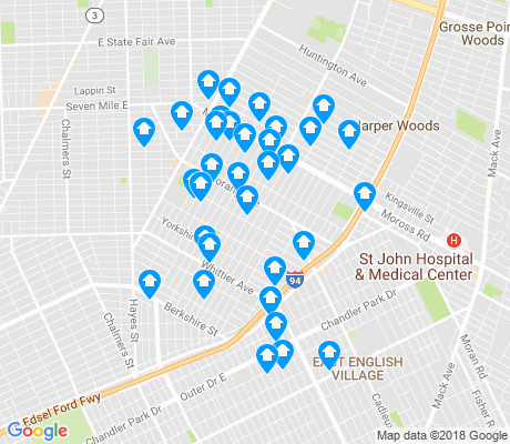 map of Denby apartments for rent