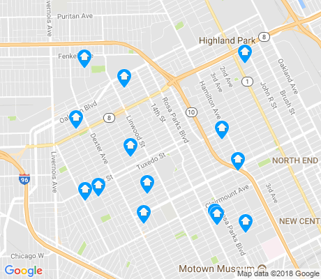 map of Durfee apartments for rent