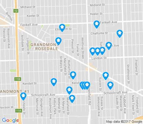 map of Grandmont apartments for rent