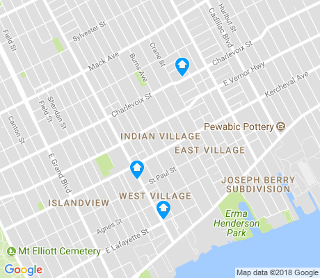 map of Indian Village apartments for rent
