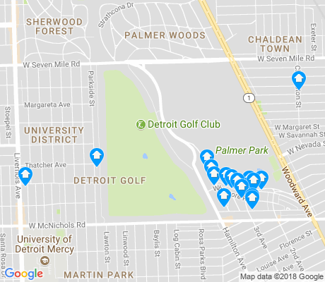 map of Palmer Park apartments for rent