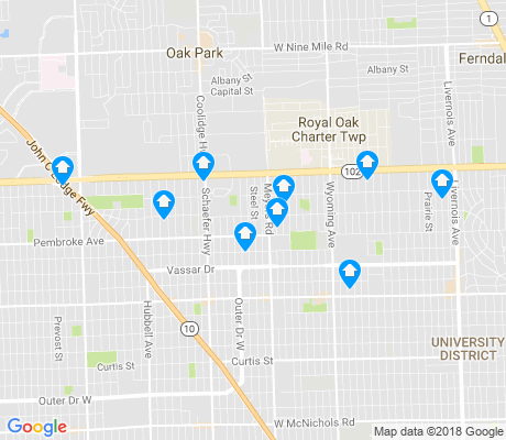 map of Pembroke apartments for rent