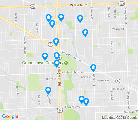 map of Redford apartments for rent