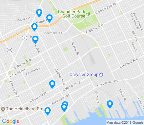 map of St. Jean apartments for rent