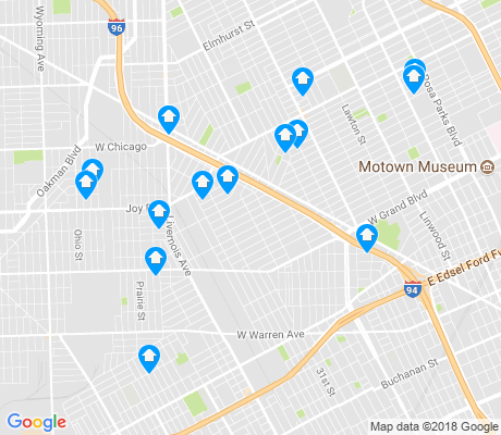 map of Tireman apartments for rent
