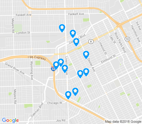 map of Winter Halter apartments for rent