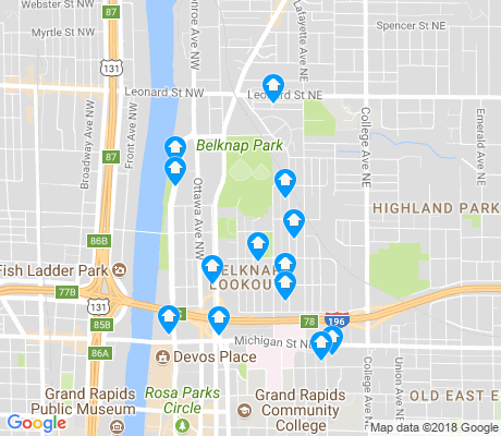 map of Belknap Lookout apartments for rent
