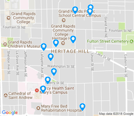 map of Heritage Hill apartments for rent